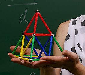 Ausschnitt aus dem Foto oben: das physikalische Modell