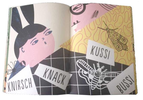 """Doppelseite aus dem Buch """"Sabber Schlabber Kussi Bussi"""""""