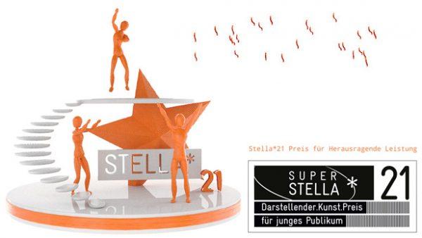 Die digitale Preisstaute Stella - hier umgebaut auf Querformat
