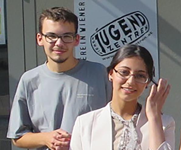 Jermemy-James Janisch und Mayar Dawoud