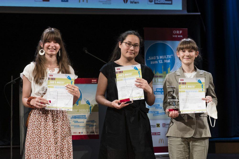 Gruppenfoto der in Wien anwesenden Preisträger*innen der Finalrunde in Innsbruck