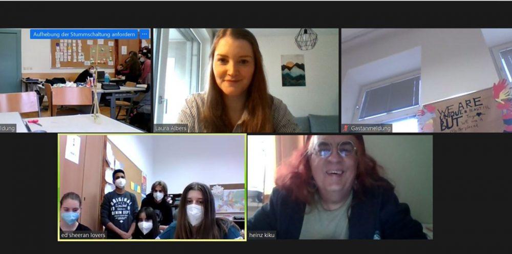 Screenshots vom Online-Video-Treffen