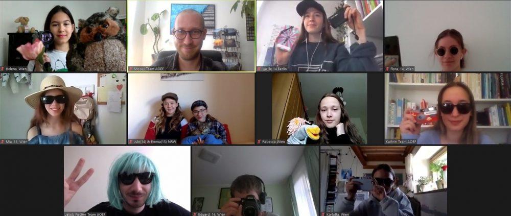 Lauter kleine Fotos beim Online-Jury-Treffen