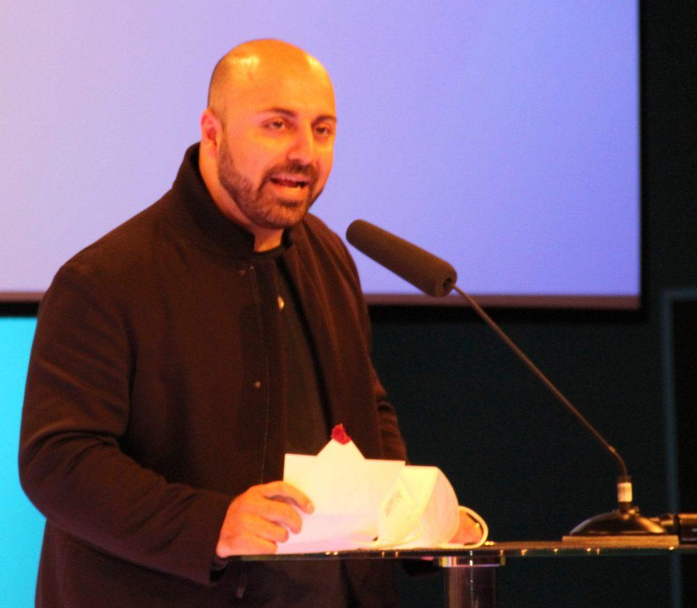 Ali Mahlodji bei der Laudatio