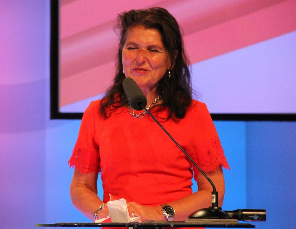 Lobrednerin Martina Denich-KobulaVorsitzende des Kuratoriums des Fonds der Wiener Kaufmannschaft und Mitglied der Merkur Jury
