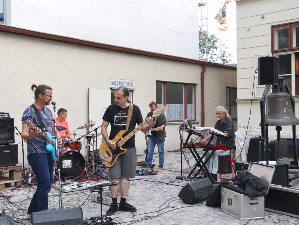 Auftritt der Band