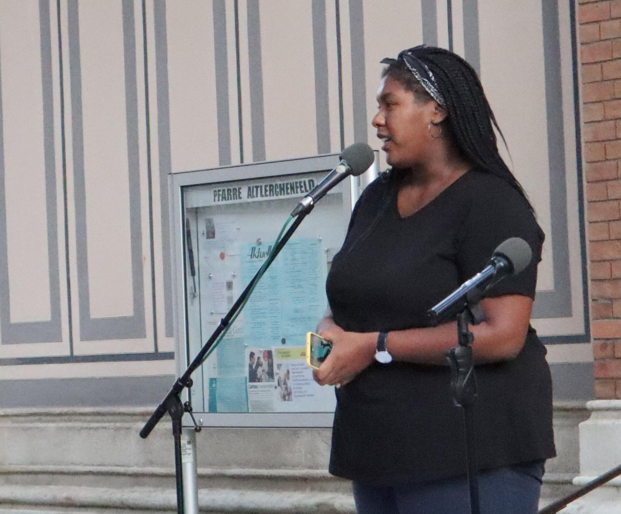 Noomi Anyanwu, Sprecherin des Antirassismus-Volksbegehrens Black Voices