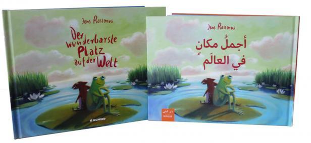 Buchcover der deutschsprachigen sowie der Arabisch-Deutschen Ausgabe