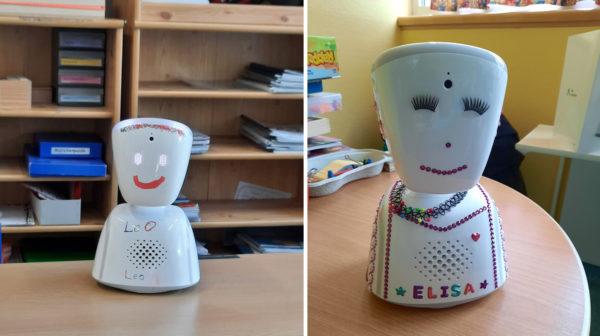 Zwei Avatare - kleine, handliche Roboter