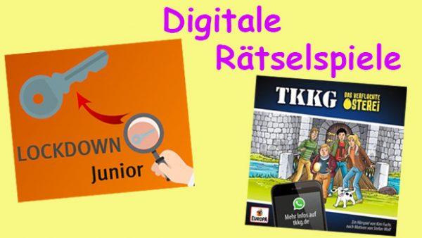Bildmontage - Symbol für das digitale Escape-Room-Spiel und das TKKG-Hörspiel