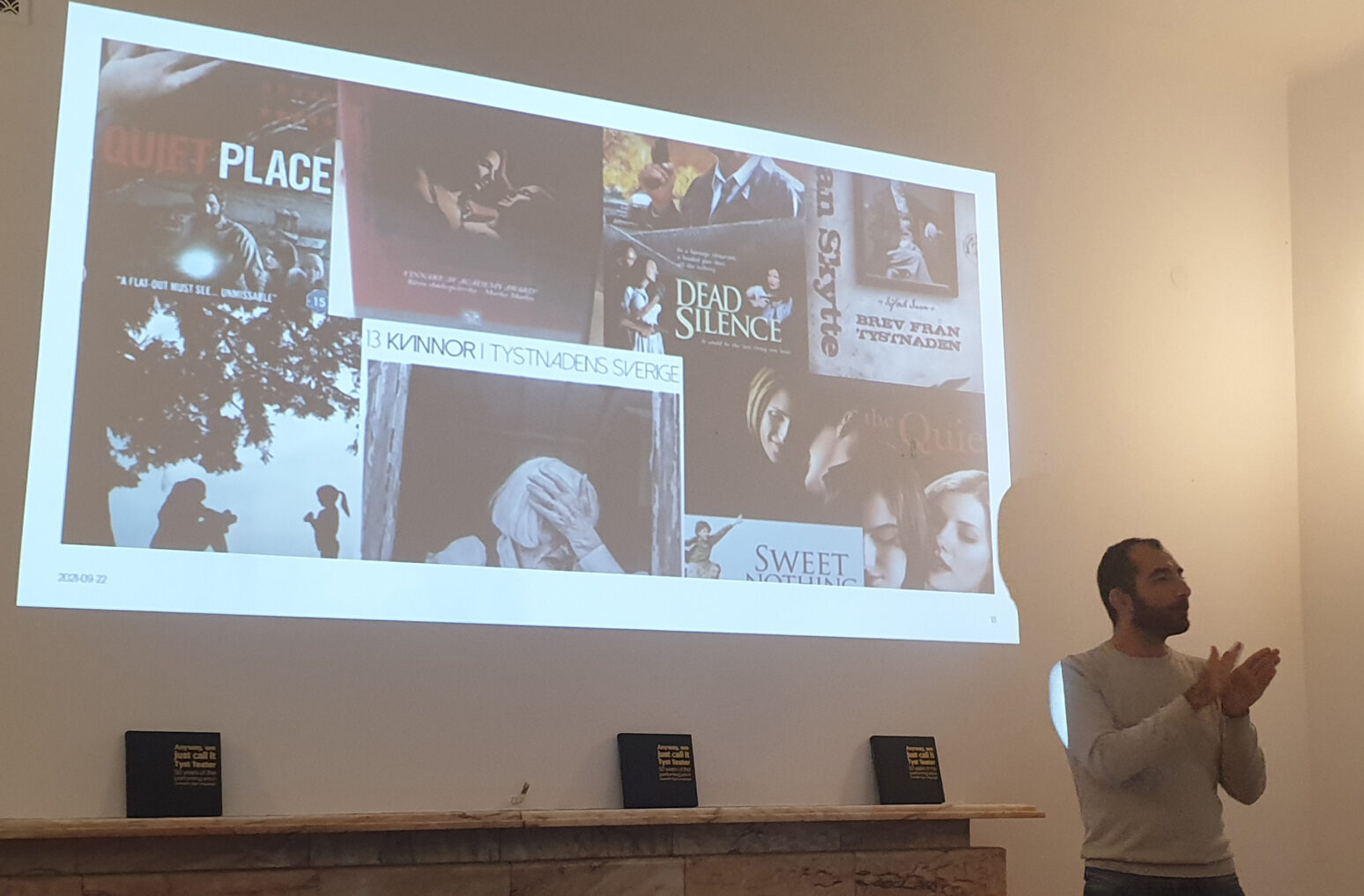 Präsentation der Aktivitäten der Abteilung Crea im schwedischen Riksteatern