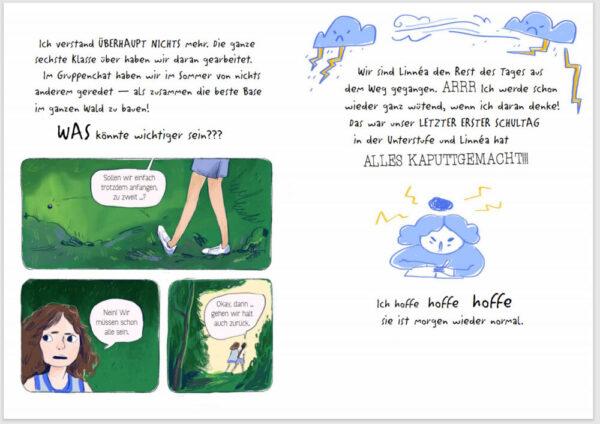 "Doppelseite aus der Graphic Novel ""Regenbogentage"""
