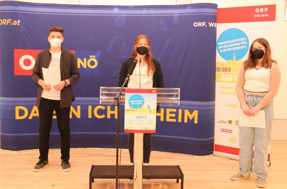 Schüler*innen-Trio aus der Mittelschule Ebenfurth