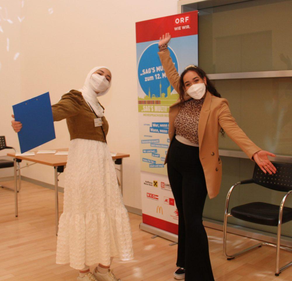 Vormalige SAG'S-MULTI!-Siegerinnen Mina Shama und Yasmin Maatouk