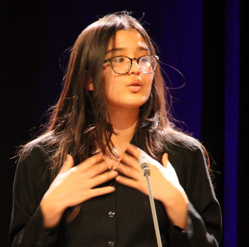 Fereshta Afzali, Rednerin am Redepult