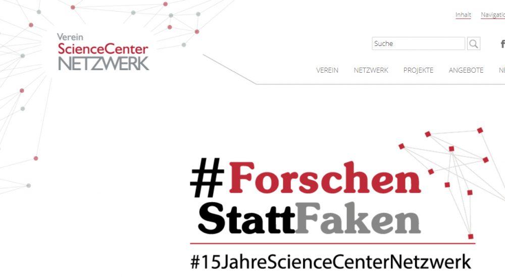 Website zu #forschenstattfaken