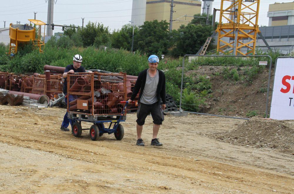 Arbeitr auf der Baustelle