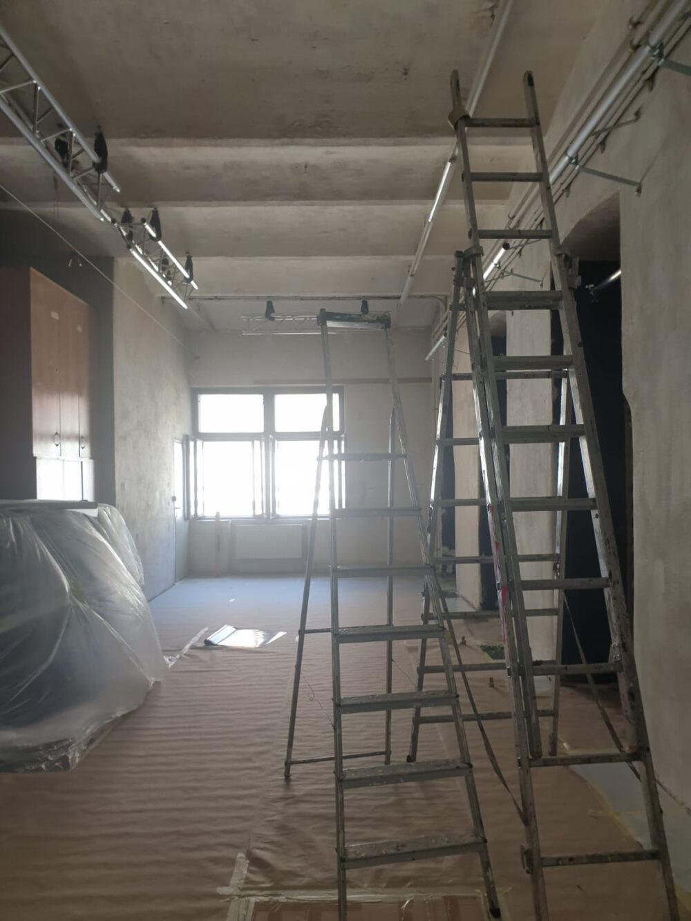 Theaterraum als Baustelle