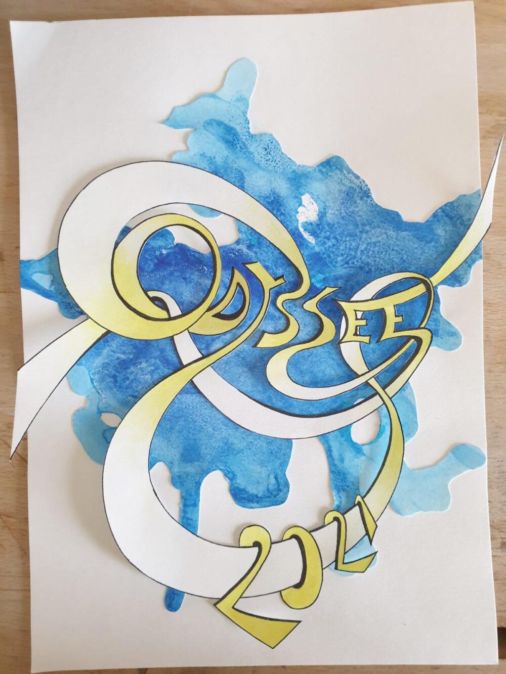 Verschnörkelter Schriftzug Odyssee 2021