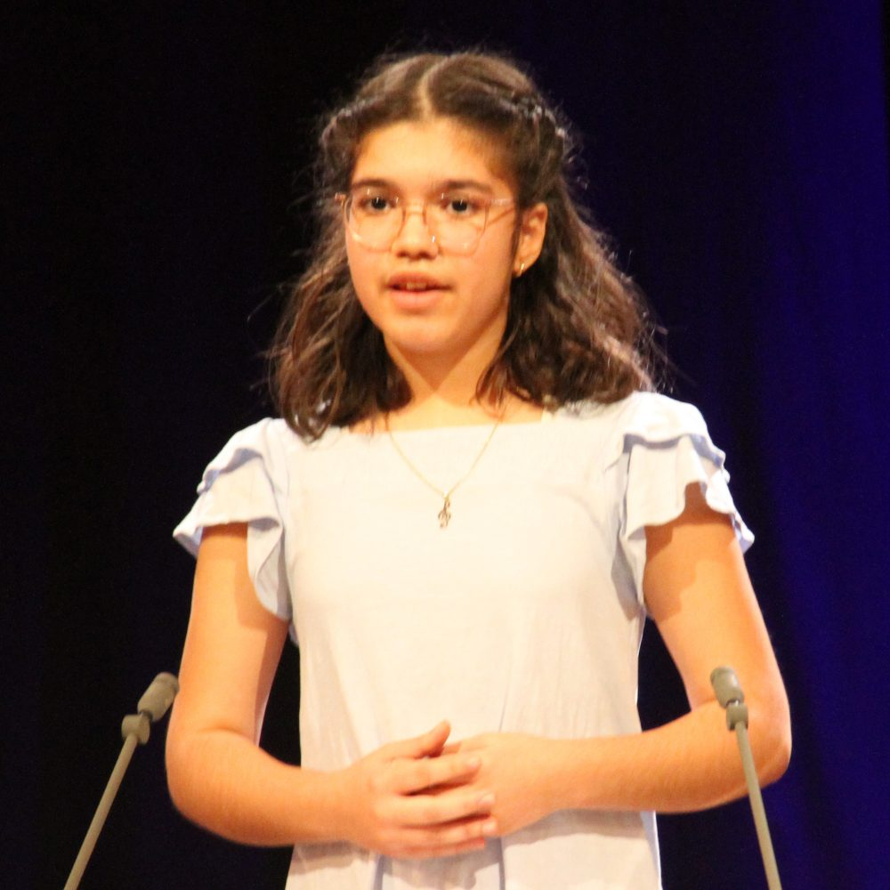 Jasmin Ghashami, Rednerin am Redepult