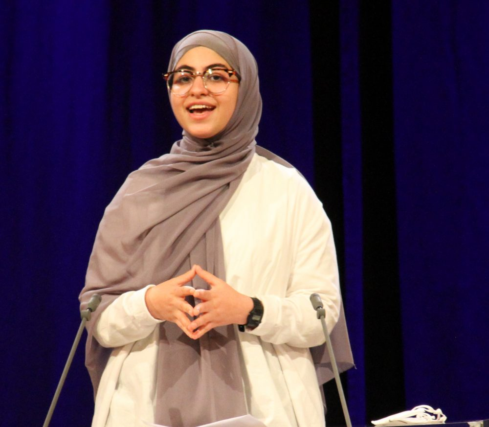 Mariam Soliman, Rednerin am Redepult