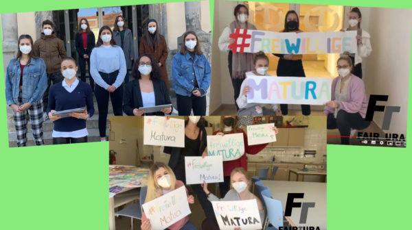 Montage von Fotos aus zwei Videos von Jugendlichen zum Thema Matura
