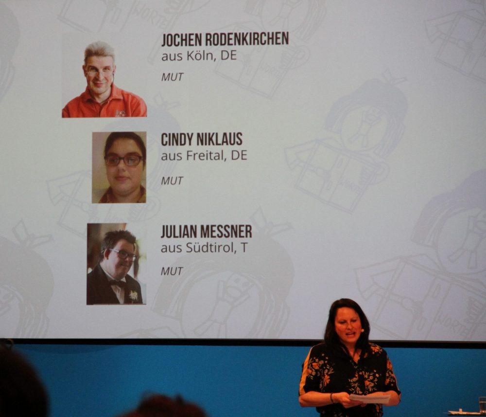 Folie it MUT-Text-Gewinner:innen