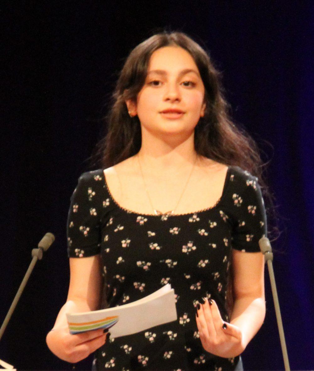 Rabia Rita Ralice, Rednerin am Redepult