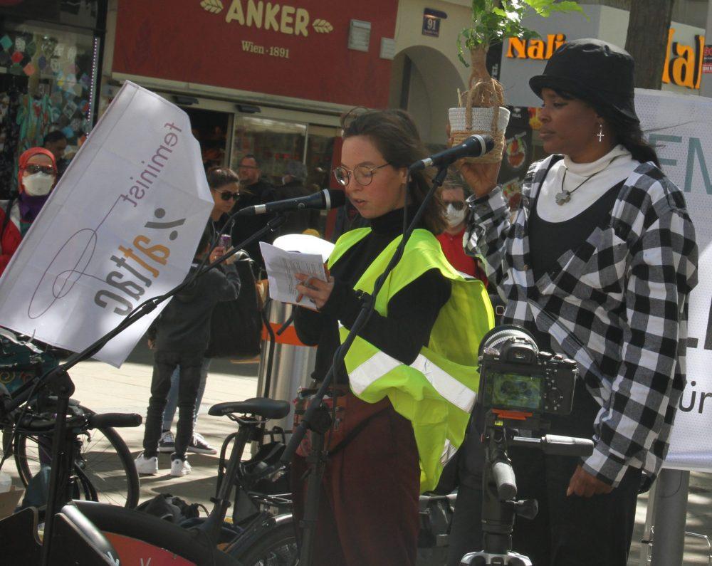 Rednerin bei der Aktion