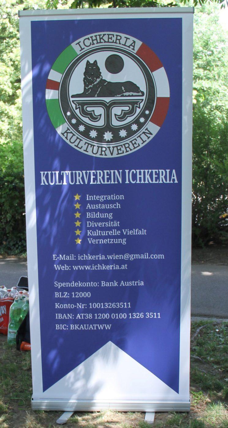 Roll-Up des Vereins Ichkeria