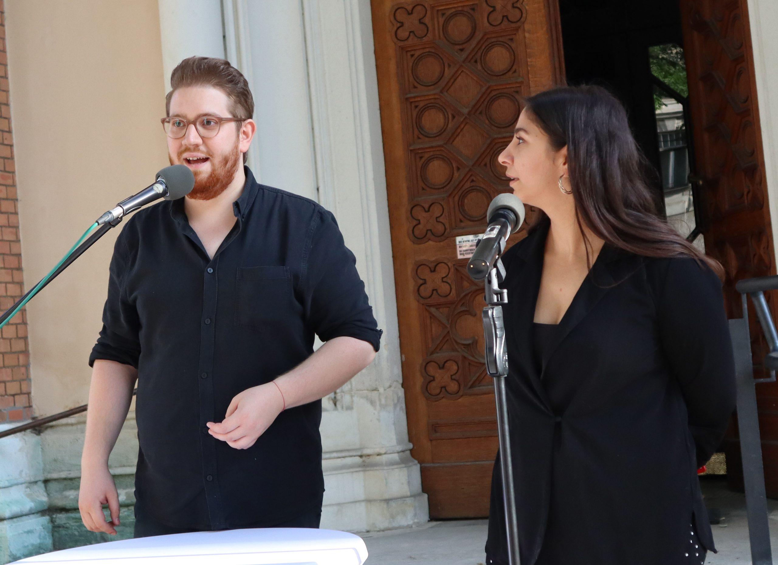 Sladi Mirković und Sami Mago, das Moderationsduo von HÖR