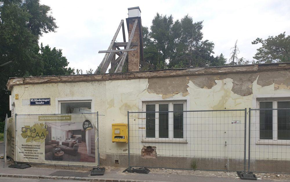 Abriss-Haus Klederinger Straße 160