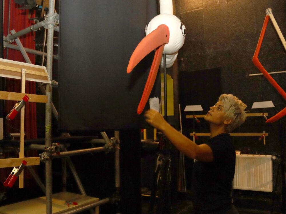 Der Figurentheater-Storch