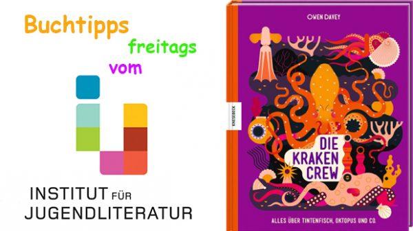 """Buchcover und Schrift """"Buchtipps freitags vom Institut für Jugendliteratur"""""""