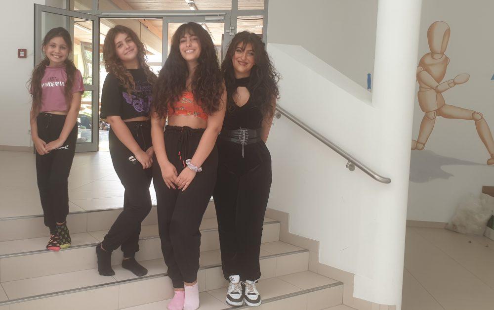 Die vier Schwestern Arisu, Ariella, Kimiyah und Setareh Eskandari