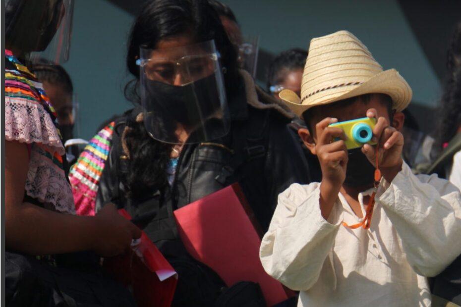 Ankunft von Zapatistas in Wien-Schwechat