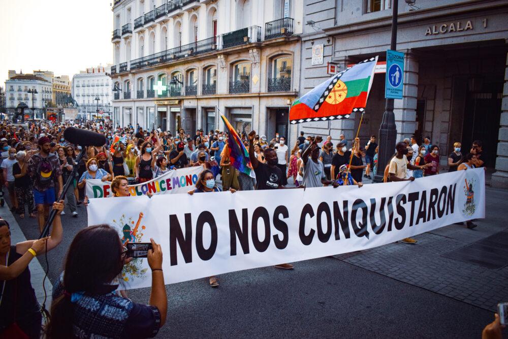 Zapatistas-Kundgebung in Madrid